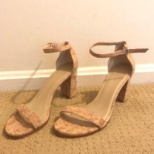 Stuart Weizman cork heels